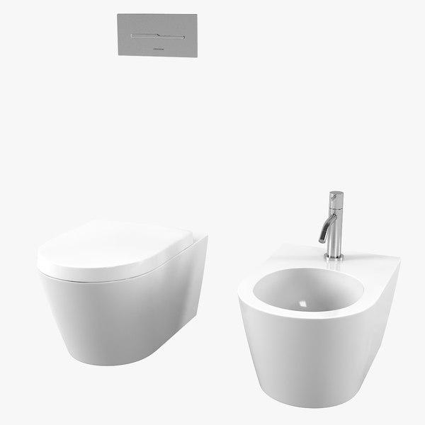 noorth-senna bidet toilet set 3D model