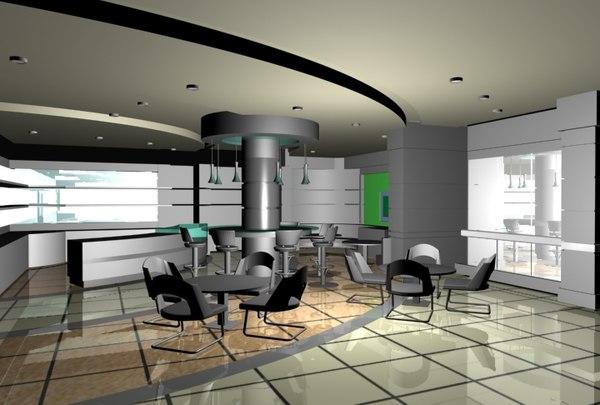 cafe gym 3D