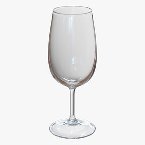 3D red wine glass model