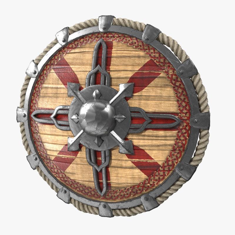 3D viking shield v4