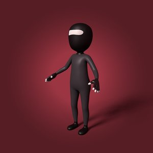 3D cartoon ninja