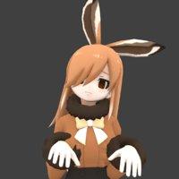 3D girl bunny