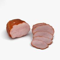 ham meat pork 3D model