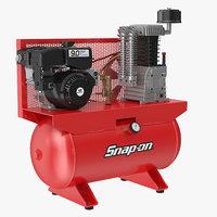 air compressor stationary horizontal 3D model