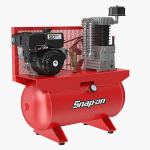 air compressor stationary horizontal 3D model
