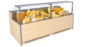 showcase cheese 3D model