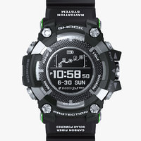 3D sports watch resistant black model