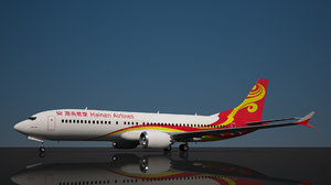 hainan airlines 737 8 3D model