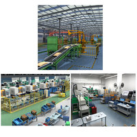 Collection of Factory Interior Scene and Equipment