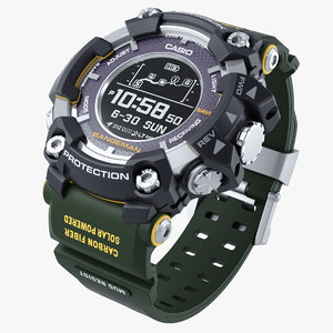 3D model casio g-shock rangeman gpr