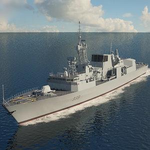 halifax class frigate 3D model