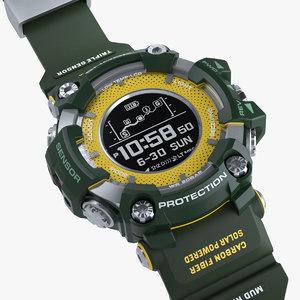 sports military watch shock 3D model