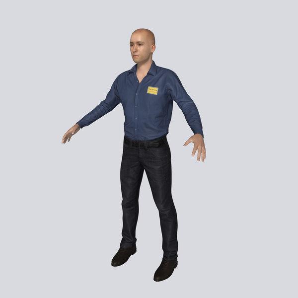 3D parking attendant