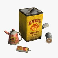 3D model vintage canisters