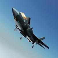3D raptor stealth aircraft