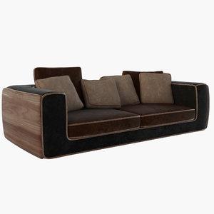 3D titano sofa model