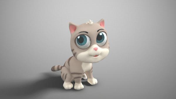 3D animate cat model