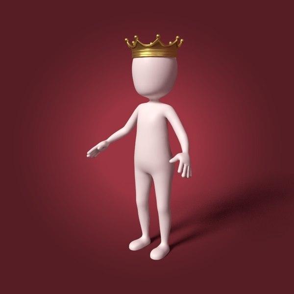 3D cartoon prince