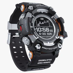 sports watch shock resistant 3D model