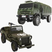 Two Army Vehicle Collection