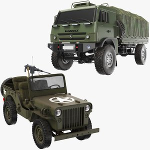real army vehicles 3D model