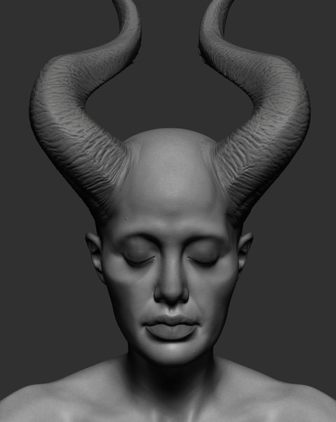 head ztl zbrush 3D model