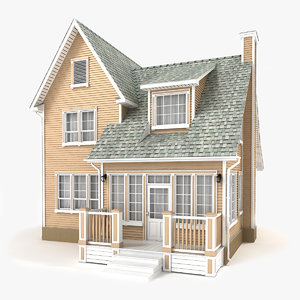 two-story cottage 67 3D model