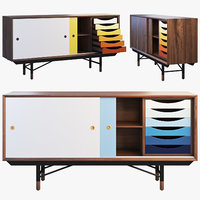1955 sideboard 3 options 3D model