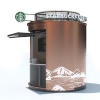 3D starbucks kiosk model