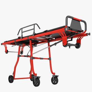 3D ambulance stretcher trolley