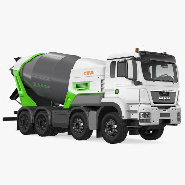 electric hybrid mixer truck model