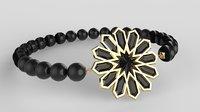 3D moroccan bracelet traditional print model