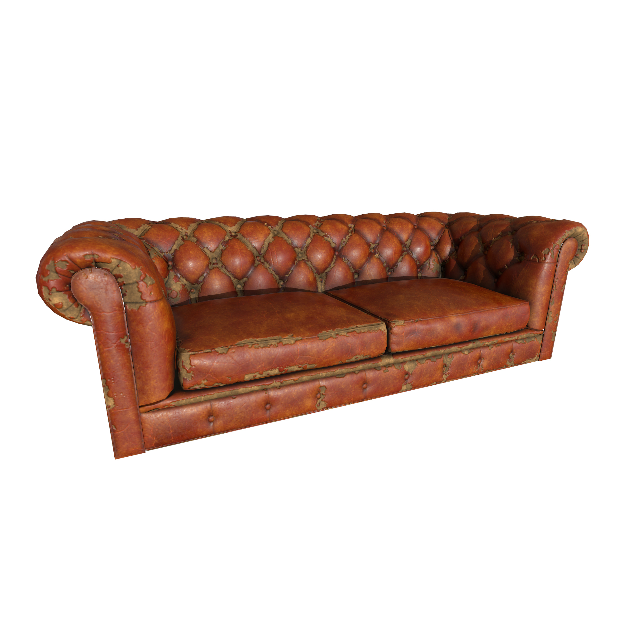 Old Leather Sofa (Game Ready)