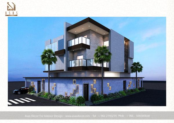 villa house 3D model