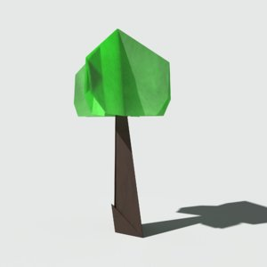 ready origami tree 3D model
