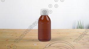 amber glass bottle 3D model