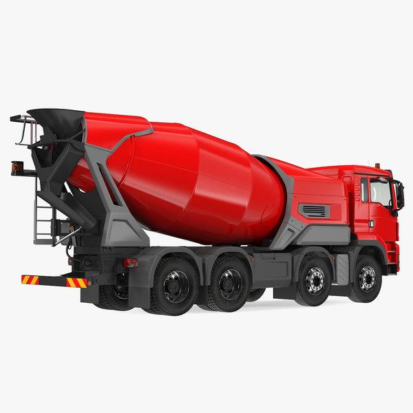 3D electric hybrid mixer truck