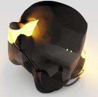 helmet soldier head 3D