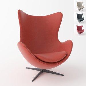 armchair eggchair arm 3D