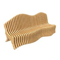 3D parametric bench model