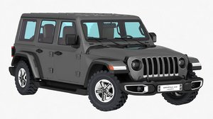 3D jeep wrangler sahara unlimited model