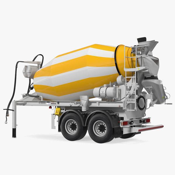 semi trailer mixer liebherr 3D model