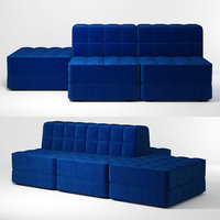 3D soft sofa model
