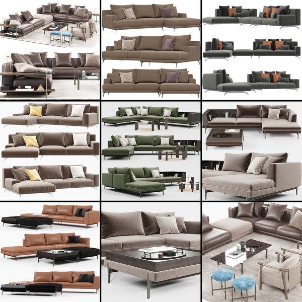 3D ditre italia sofa model