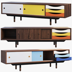 1955 tv cabinet 3 3D model