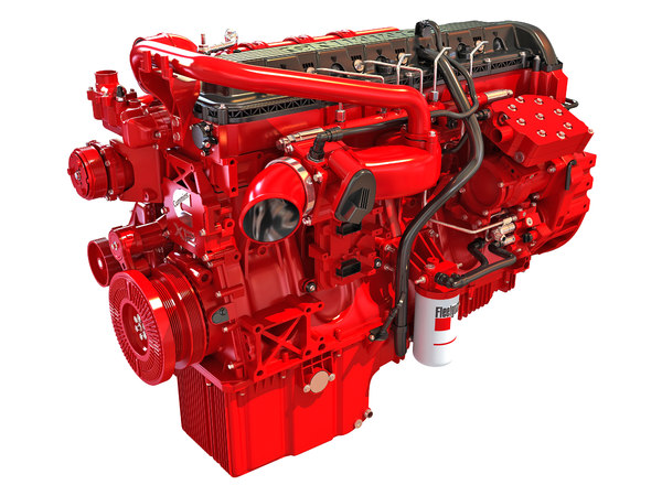 3D model cummins x12 truck engine