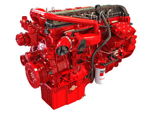 3D model cummins x12 truck engine