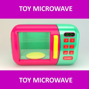3D model toy microwave
