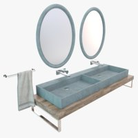 concrete washbasin model