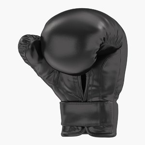 3D boxing glove black clenched
